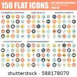 flat e commerce and shopping ... | Shutterstock .eps vector #588178070