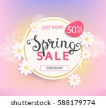 spring sale label with... | Shutterstock .eps vector #588179774