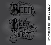 the inscription for the beer... | Shutterstock .eps vector #588181220