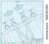 vector technical blueprint of... | Shutterstock .eps vector #588181484
