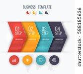 business infographics template... | Shutterstock .eps vector #588185636