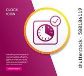 clock icon. info board graphic... | Shutterstock .eps vector #588186119