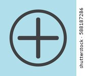 plus icon  positive symbol... | Shutterstock .eps vector #588187286
