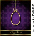 happy easter background for... | Shutterstock . vector #588189038
