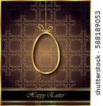 happy easter background for... | Shutterstock . vector #588189053