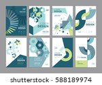 set of modern business paper... | Shutterstock .eps vector #588189974