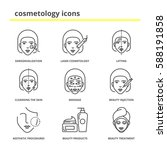 cosmetology icons set ... | Shutterstock .eps vector #588191858