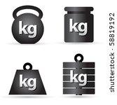 set of weight kilogram barbell... | Shutterstock .eps vector #58819192