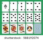 playing cards spades suit on... | Shutterstock .eps vector #588192074