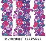 mehndi ribbons. paisley design. ... | Shutterstock .eps vector #588193313