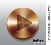 round play button with brushed... | Shutterstock .eps vector #588193904
