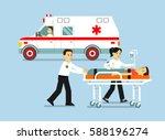 medicine ambulance concept in...   Shutterstock .eps vector #588196274