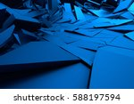 abstract 3d rendering of... | Shutterstock . vector #588197594