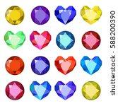 gems isolated on white... | Shutterstock .eps vector #588200390
