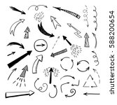 handdrawn arrows on white... | Shutterstock .eps vector #588200654