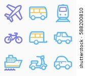 vacation and transport vector... | Shutterstock .eps vector #588200810