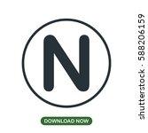 n letter icon vector | Shutterstock .eps vector #588206159