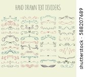 set of vector hand drawn text... | Shutterstock .eps vector #588207689