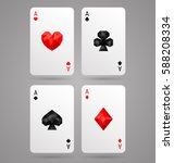 set of four aces playing cards... | Shutterstock .eps vector #588208334
