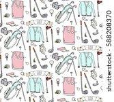 seamless pattern hand drawn... | Shutterstock .eps vector #588208370