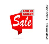 sale banner. red discount... | Shutterstock .eps vector #588210059