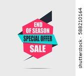 sale banner. pink discount... | Shutterstock .eps vector #588210164