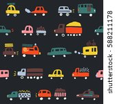 seamless pattern with cute... | Shutterstock .eps vector #588211178