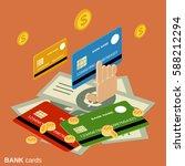 bank cards flat 3d isometric... | Shutterstock .eps vector #588212294