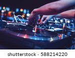 moscow 2 may 2016 party dj mix... | Shutterstock . vector #588214220