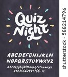 quiz night. chalkboard sign. | Shutterstock .eps vector #588214796