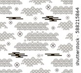 decorative seamless pattern... | Shutterstock .eps vector #588215864