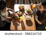 breakfast is good for your... | Shutterstock . vector #588216710
