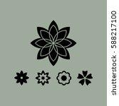 flower   Shutterstock .eps vector #588217100