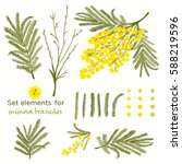 set of hand drawn elements for... | Shutterstock .eps vector #588219596
