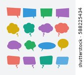 colored speech bubble icons set....   Shutterstock .eps vector #588225434