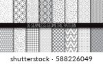 big collection of abstract... | Shutterstock .eps vector #588226049