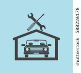 car in the garage icon ... | Shutterstock .eps vector #588226178