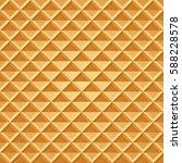 baked waffle seamless pattern.... | Shutterstock .eps vector #588228578