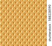 baked waffle seamless pattern.... | Shutterstock .eps vector #588228590