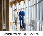 couple in love on vacation.... | Shutterstock . vector #588229328