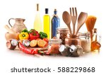assorted food products and... | Shutterstock . vector #588229868