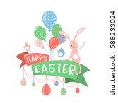 vector illustration of happy... | Shutterstock .eps vector #588233024