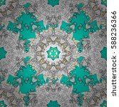 traditional orient ornament.... | Shutterstock . vector #588236366