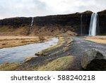seljalandfoss in iceland....   Shutterstock . vector #588240218