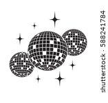 disco balls vector icon | Shutterstock .eps vector #588241784