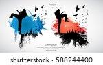 karate. sport background | Shutterstock .eps vector #588244400