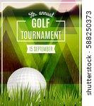 golf tournament poster template....   Shutterstock .eps vector #588250373