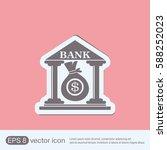 bank building.   Shutterstock .eps vector #588252023