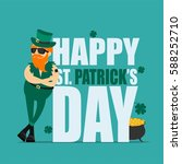 st. patrick's day greeting card ... | Shutterstock .eps vector #588252710