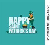 st. patrick's day greeting card ... | Shutterstock .eps vector #588252734